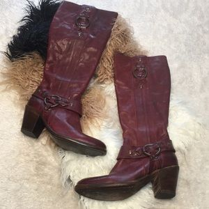 Frye RARE tall boots wine red sz 6